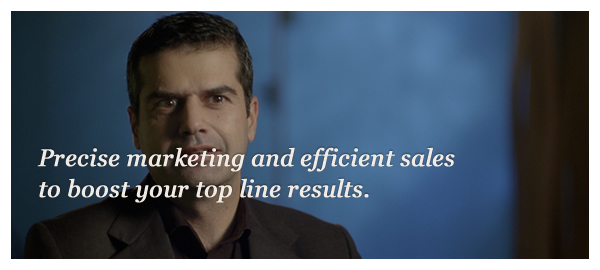 Precise marketing and efficient sales